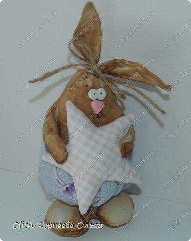 Игрушка Мастер-класс Пасха Лепка Шитьё Пасхальные кролики Кофе Нитки Ткань Фарфор холодный Фетр Шпагат фото 7