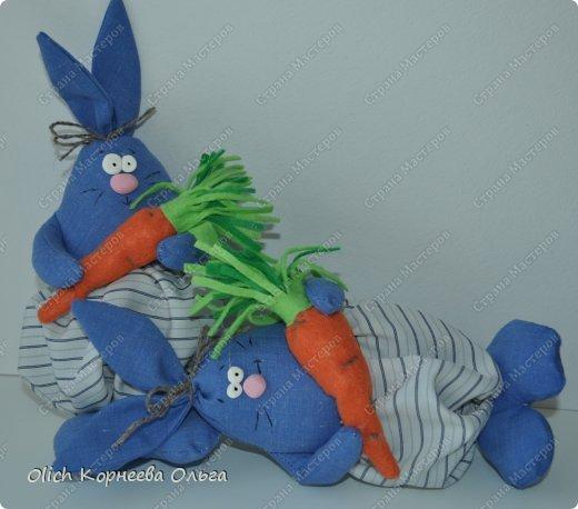 Игрушка Мастер-класс Пасха Лепка Шитьё Пасхальные кролики Кофе Нитки Ткань Фарфор холодный Фетр Шпагат фото 11
