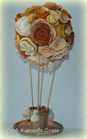 Мастер-класс Поделка изделие Моделирование конструирование Воздушный шар в апельсиновых розах Клей Краска Продукты пищевые Шпагат фото 1