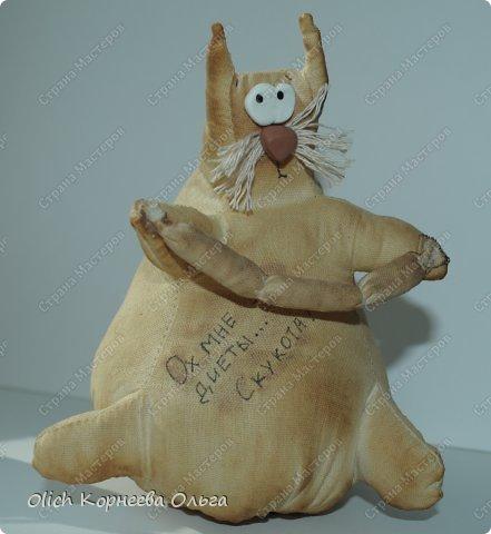 Игрушка Шитьё Толстые кофейные коты Выкройка Клей Кофе Пряжа Пуговицы Ткань Фарфор холодный Шпагат фото 1