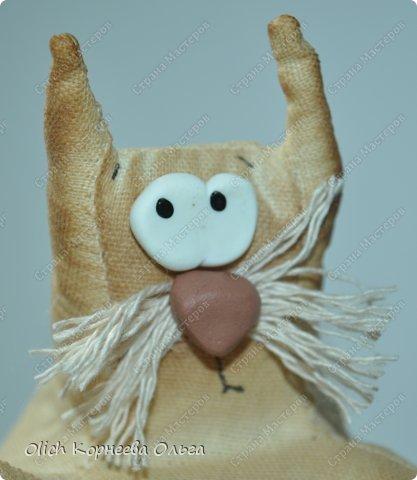 Игрушка Шитьё Толстые кофейные коты Выкройка Клей Кофе Пряжа Пуговицы Ткань Фарфор холодный Шпагат фото 2