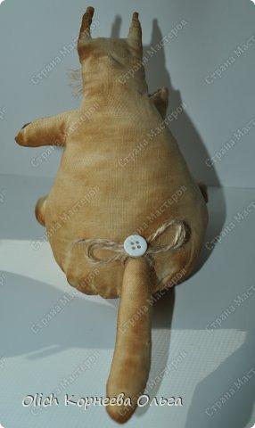 Игрушка Шитьё Толстые кофейные коты Выкройка Клей Кофе Пряжа Пуговицы Ткань Фарфор холодный Шпагат фото 4