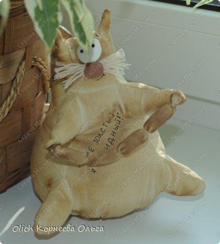Игрушка Шитьё Толстые кофейные коты Выкройка Клей Кофе Пряжа Пуговицы Ткань Фарфор холодный Шпагат фото 6