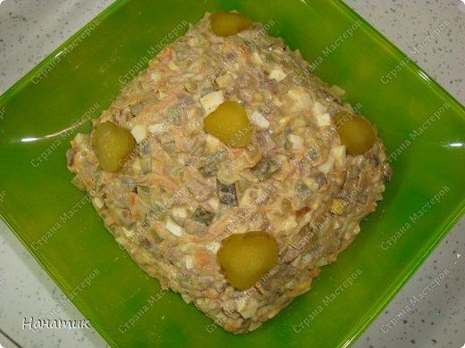 Кулинария 8 марта День рождения Новый год Рецепт кулинарный Салат из печени с огурчиками Продукты пищевые