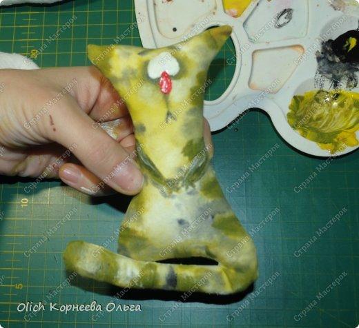 Игрушка Мастер-класс Рисование и живопись Шитьё Разукрашиваем текстильного кота Краска Ткань фото 39