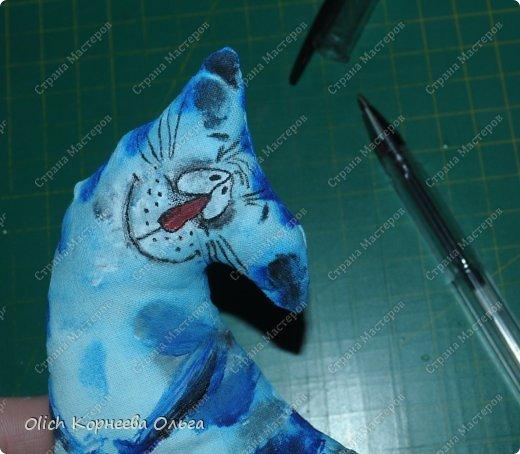 Игрушка Мастер-класс Рисование и живопись Шитьё Разукрашиваем текстильного кота Краска Ткань фото 44