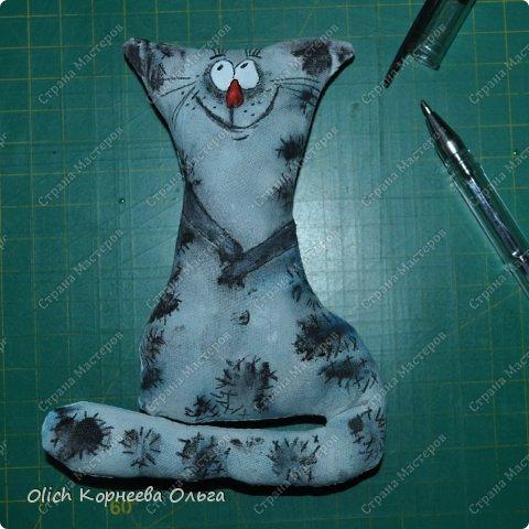 Игрушка Мастер-класс Рисование и живопись Шитьё Разукрашиваем текстильного кота Краска Ткань фото 45