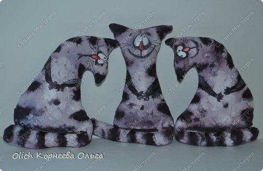 Игрушка Мастер-класс Рисование и живопись Шитьё Разукрашиваем текстильного кота Краска Ткань фото 2