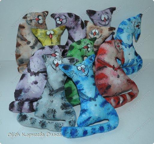 Игрушка Мастер-класс Рисование и живопись Шитьё Разукрашиваем текстильного кота Краска Ткань фото 1