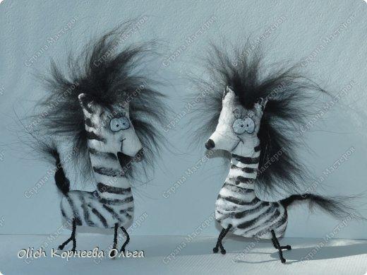 Игрушка Мастер-класс Рисование и живопись Шитьё Crazy зебры и другие примитивы Бисер Краска Мех Проволока Пряжа Ткань фото 1