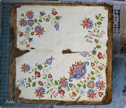 Декор предметов Мастер-класс Декупаж Табурет - из старого в  старинный Краска Салфетки фото 9