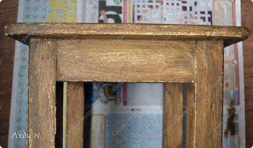 Декор предметов Мастер-класс Декупаж Табурет - из старого в  старинный Краска Салфетки фото 10