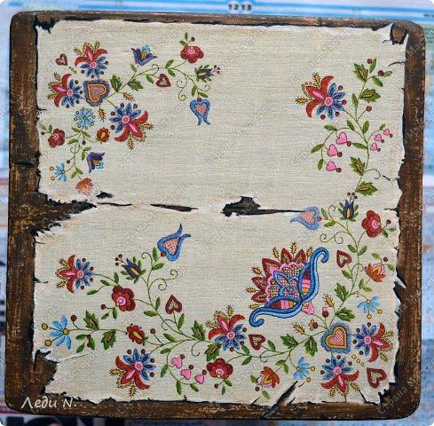 Декор предметов Мастер-класс Декупаж Табурет - из старого в  старинный Краска Салфетки фото 11
