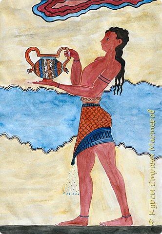 Грифон, изображенный на стене тронного зала Кносского дворца на Крите.  фото 2