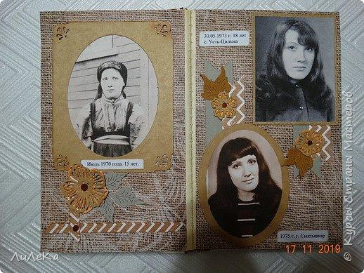 Альбом из книжки. Взяла свои фото от рождения и далее... фото 14