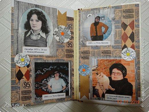 Альбом из книжки. Взяла свои фото от рождения и далее... фото 25