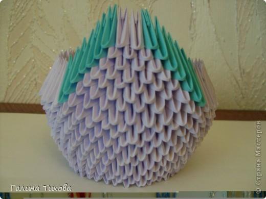 Мастер-класс Поделка изделие Оригами модульное Мастер-класс «Сиреневый лебедь» Бумага фото 11