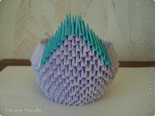 Мастер-класс Поделка изделие Оригами модульное Мастер-класс «Сиреневый лебедь» Бумага фото 12