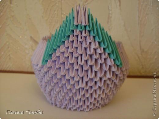 Мастер-класс Поделка изделие Оригами модульное Мастер-класс «Сиреневый лебедь» Бумага фото 13