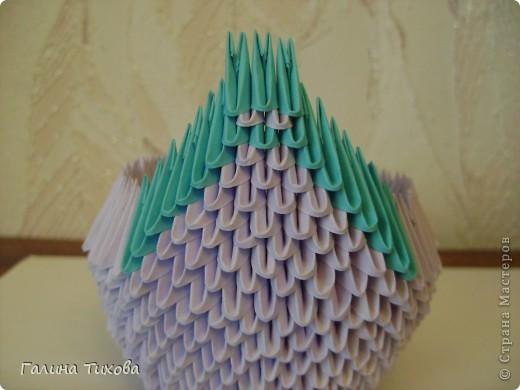 Мастер-класс Поделка изделие Оригами модульное Мастер-класс «Сиреневый лебедь» Бумага фото 14