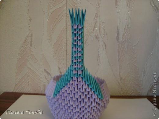 Мастер-класс Поделка изделие Оригами модульное Мастер-класс «Сиреневый лебедь» Бумага фото 15