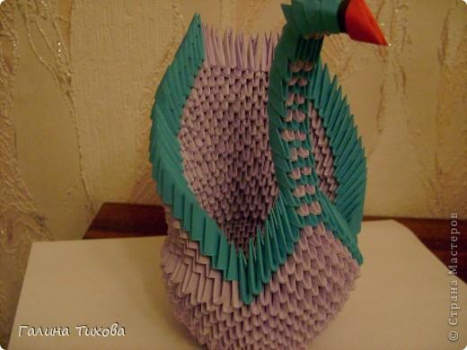 Мастер-класс Поделка изделие Оригами модульное Мастер-класс «Сиреневый лебедь» Бумага фото 20