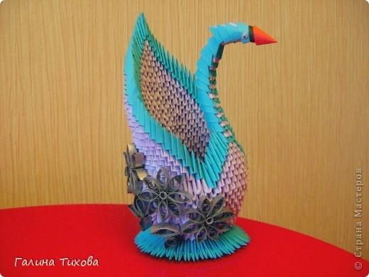 Мастер-класс Поделка изделие Оригами модульное Мастер-класс «Сиреневый лебедь» Бумага фото 1