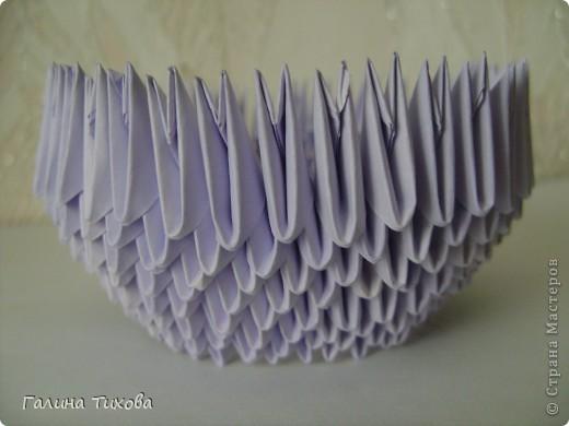 Мастер-класс Поделка изделие Оригами модульное Мастер-класс «Сиреневый лебедь» Бумага фото 5
