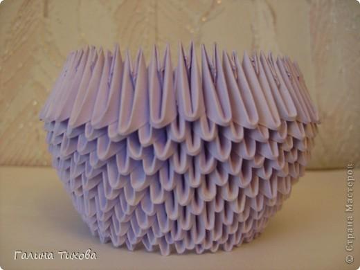 Мастер-класс Поделка изделие Оригами модульное Мастер-класс «Сиреневый лебедь» Бумага фото 6
