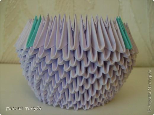 Мастер-класс Поделка изделие Оригами модульное Мастер-класс «Сиреневый лебедь» Бумага фото 7