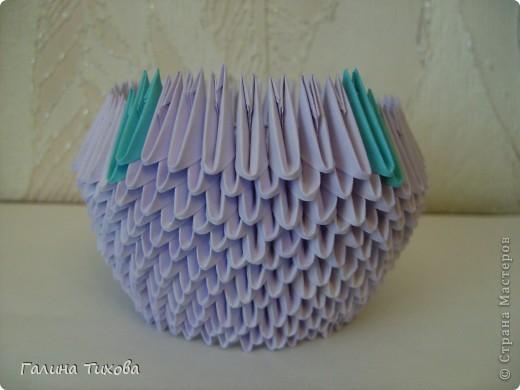 Мастер-класс Поделка изделие Оригами модульное Мастер-класс «Сиреневый лебедь» Бумага фото 8