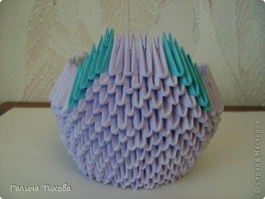 Мастер-класс Поделка изделие Оригами модульное Мастер-класс «Сиреневый лебедь» Бумага фото 9