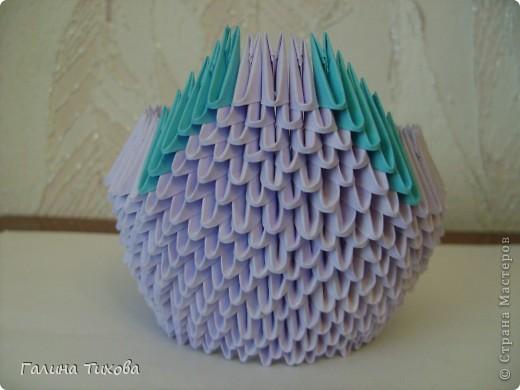 Мастер-класс Поделка изделие Оригами модульное Мастер-класс «Сиреневый лебедь» Бумага фото 10