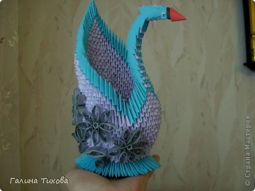 Мастер-класс Поделка изделие Оригами модульное Мастер-класс «Сиреневый лебедь» Бумага фото 23
