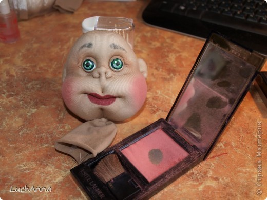 Мастер-класс Шитьё МК по созданию куклы Замарашка  Часть 1 - голова Капрон фото 1