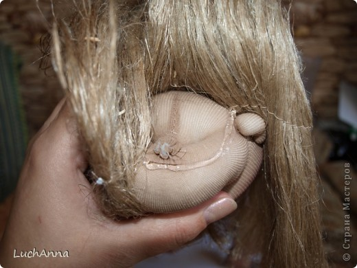 Куклы Мастер-класс Шитьё МК по созданию куклы Замарашка  Часть 2 Капрон фото 79