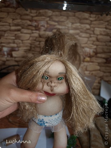 Куклы Мастер-класс Шитьё МК по созданию куклы Замарашка  Часть 2 Капрон фото 80