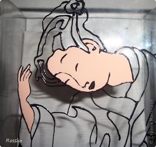 Декор предметов Мастер-класс Витраж Роспись Роспись вазы глухими витражными красками Краска Стекло фото 8