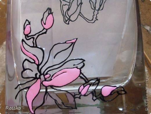 Декор предметов Мастер-класс Витраж Роспись Роспись вазы глухими витражными красками Краска Стекло фото 12