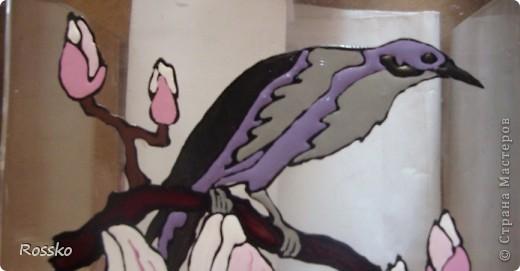 Декор предметов Мастер-класс Витраж Роспись Роспись вазы глухими витражными красками Краска Стекло фото 23