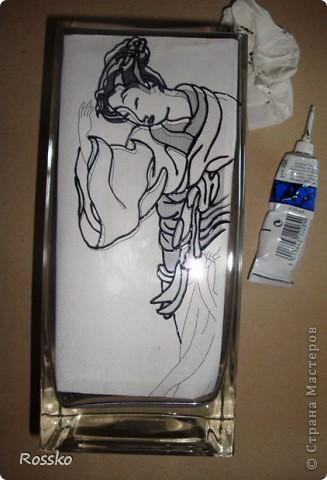 Декор предметов Мастер-класс Витраж Роспись Роспись вазы глухими витражными красками Краска Стекло фото 3
