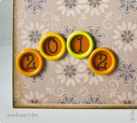 Поделка изделие Скрапбукинг День рождения Новый год Ассамбляж Календарь+напоминалка Бумага Клей Нитки Пуговицы фото 8