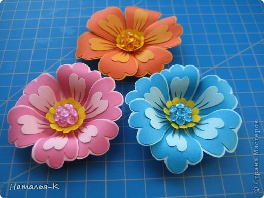 Мастер-класс Бумагопластика Цветы Картон фото 12