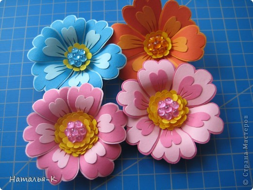 Мастер-класс Бумагопластика Цветы Картон фото 11