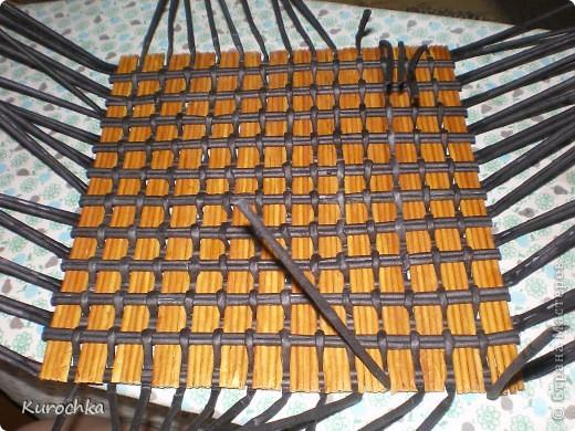 Плетение квадратного дна 15