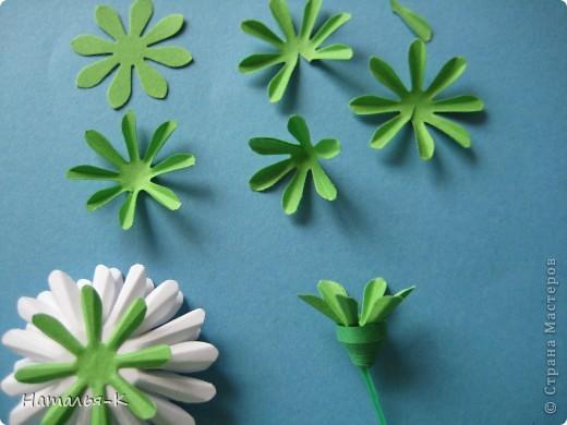 Мастер-класс Бумагопластика Квиллинг Цветы - ромашки Бумага фото 9