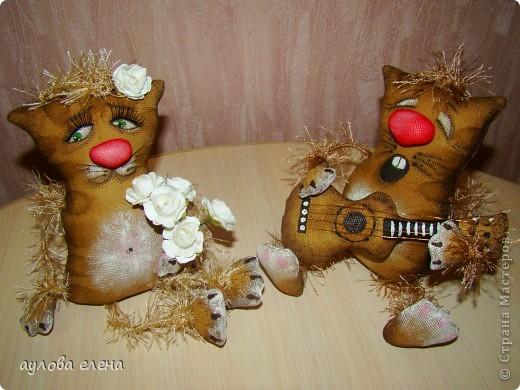 Куклы Шитьё Кофейная парочка Проволока Ткань фото 1