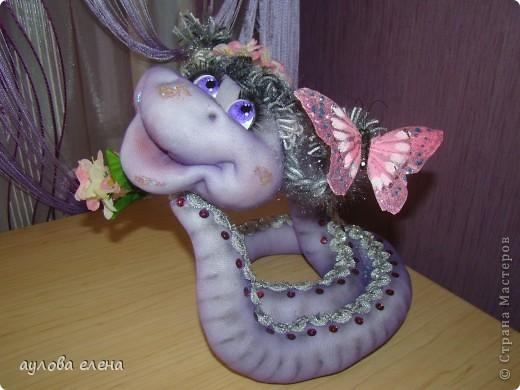 Мастер-класс Новый год Шитьё Змейка Капрон Поролон Проволока фото 1