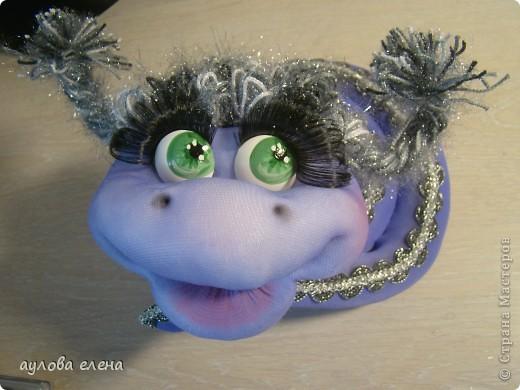 Мастер-класс Новый год Шитьё Змейка делаем мордочку Капрон Проволока фото 41