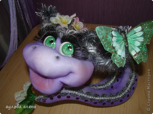 Мастер-класс Новый год Шитьё Змейка делаем мордочку Капрон Проволока фото 1